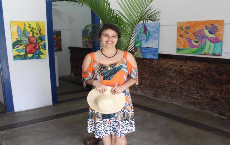 Artista de Mangaratiba mostra sua vista da Ilha de Marambaia: obras estarão expostas até o dia 16 de janeiro