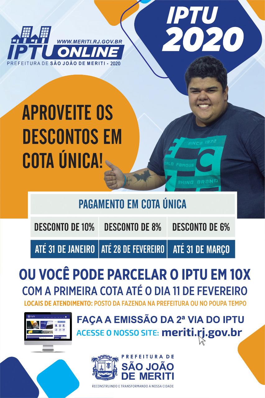 Meriti dá 10% desconto no IPTU para pagamento até o dia 31