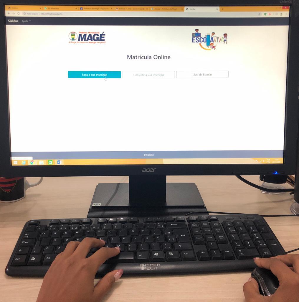 Educação de Magé optou por adotar para este ano a matrícula online: o sistema já está funcionando