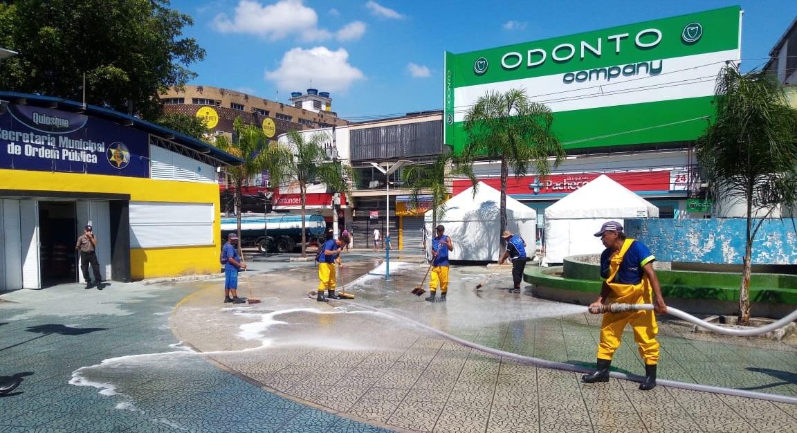 Meriti higieniza ruas como esforço no combate a proliferação do coronavírus: cidade ainda não tem nenhum caso confirmado