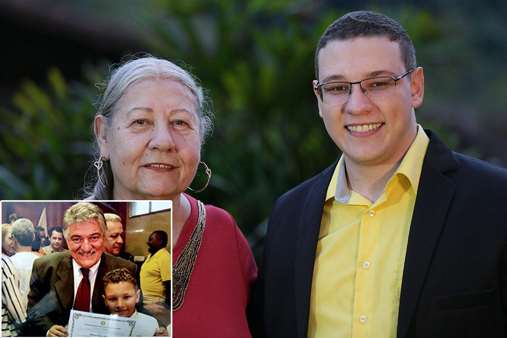 Neto de Nelson do Posto é pré-candidato a vereador em Guapimirim, começando do jeito que o avô iniciou-se na vida pública