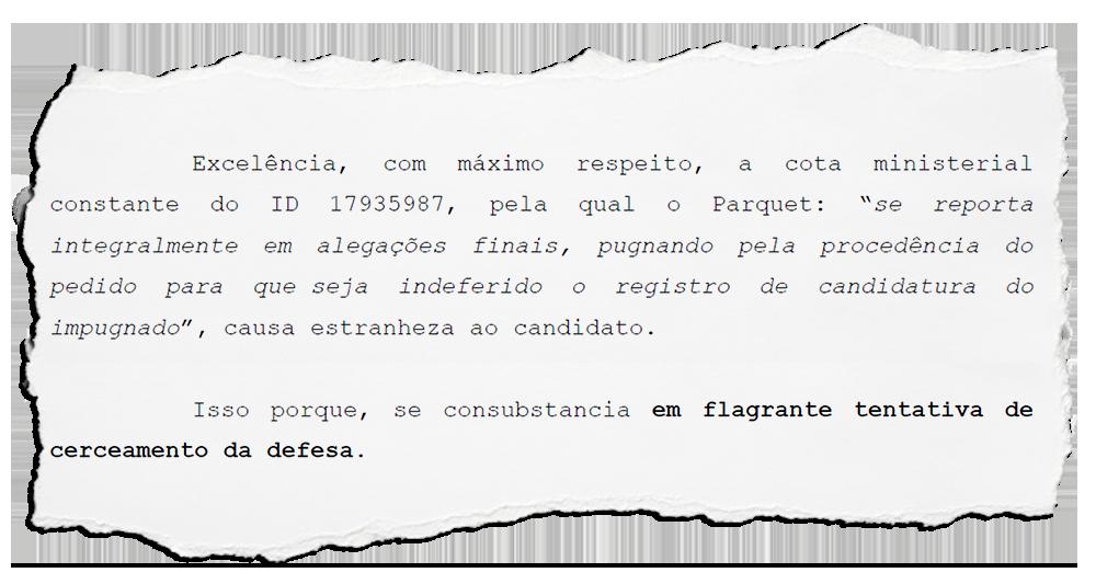 MP sustenta pedido de impugnação de Cozzolino em Magé: defesa alega cerceamento e pede prazo para fazer as alegações
