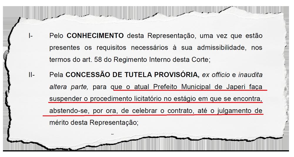 Japeri: empresa de locação de máquinas  que venceu licitação que o TCE mandou suspender já recebeu R$ 2,3 milhões da Prefeitura