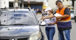 Belford Roxo faz ação de conscientização com motoristas em relação à prevenção da covid-19