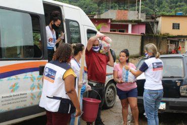 Prefeitura de Nova Iguaçu oferece assistência aos moradores de Tinguá afetados por temporal