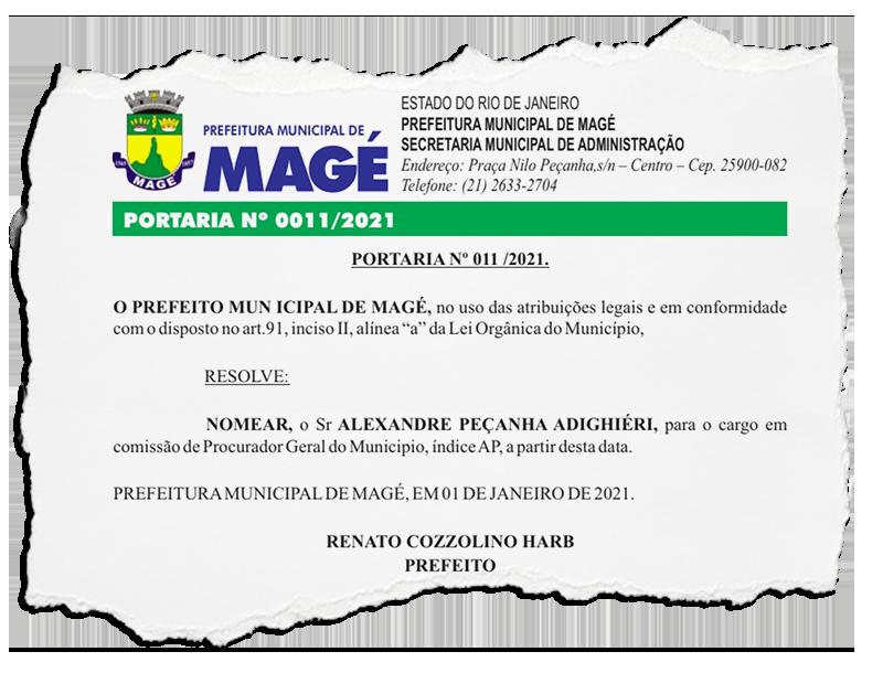 Advogados de Núbia Cozzolino são nomeados na Prefeitura de Magé: um como procurador-geral e outro para a Secretaria de Comunicação
