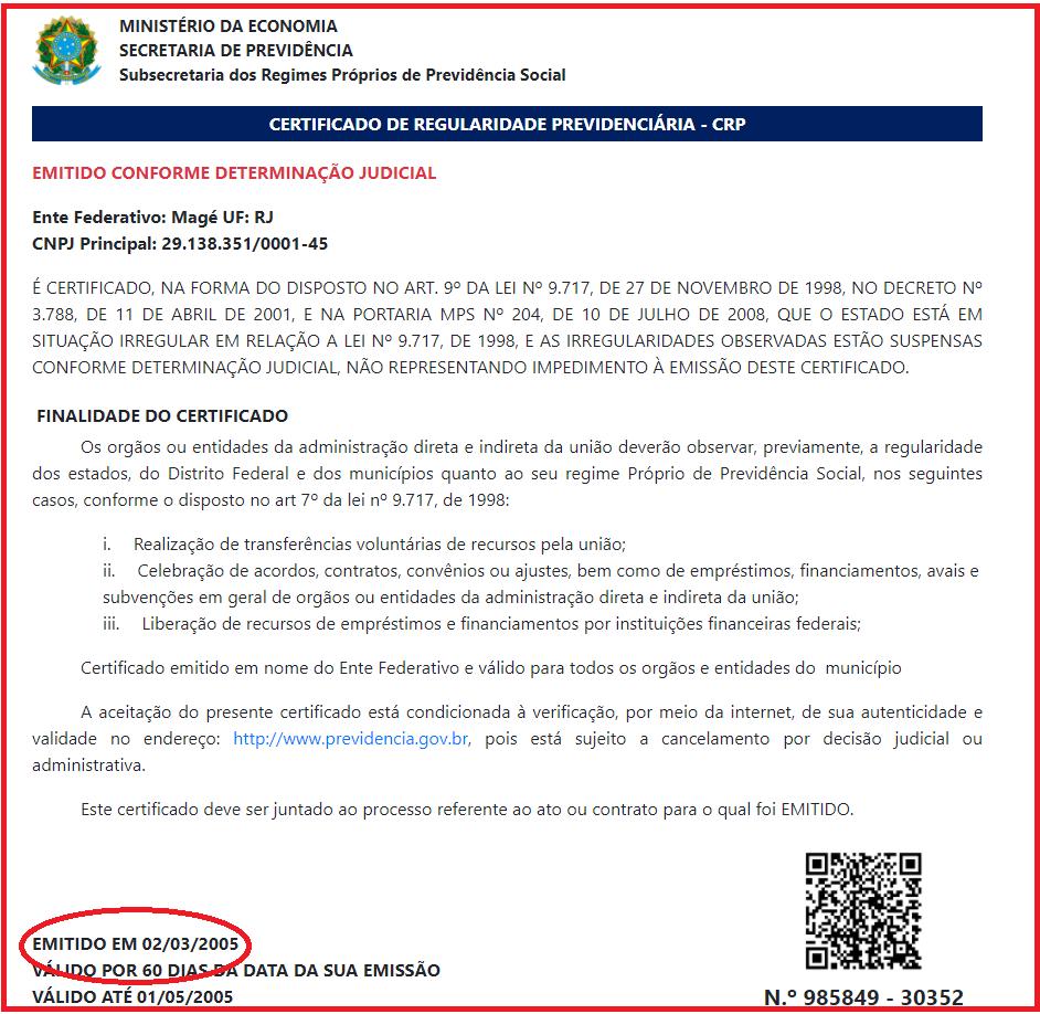 Situação previdenciária dos servidores de Magé é incerta e não sabida: Só em 2019 a Prefeitura deixou de repassar R$ 11,5 milhões