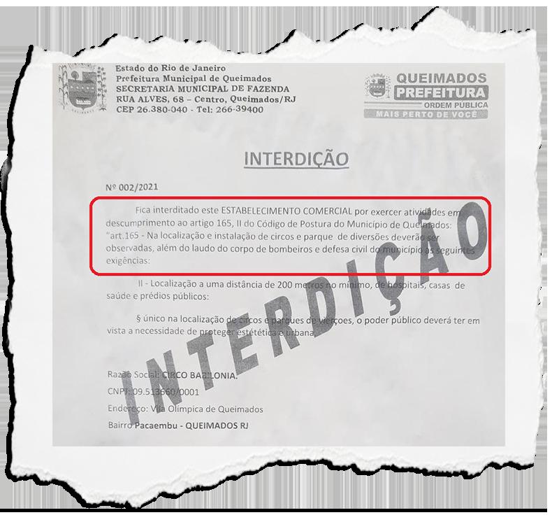 Instalação de circo em área pública vira caso de polícia em Queimados