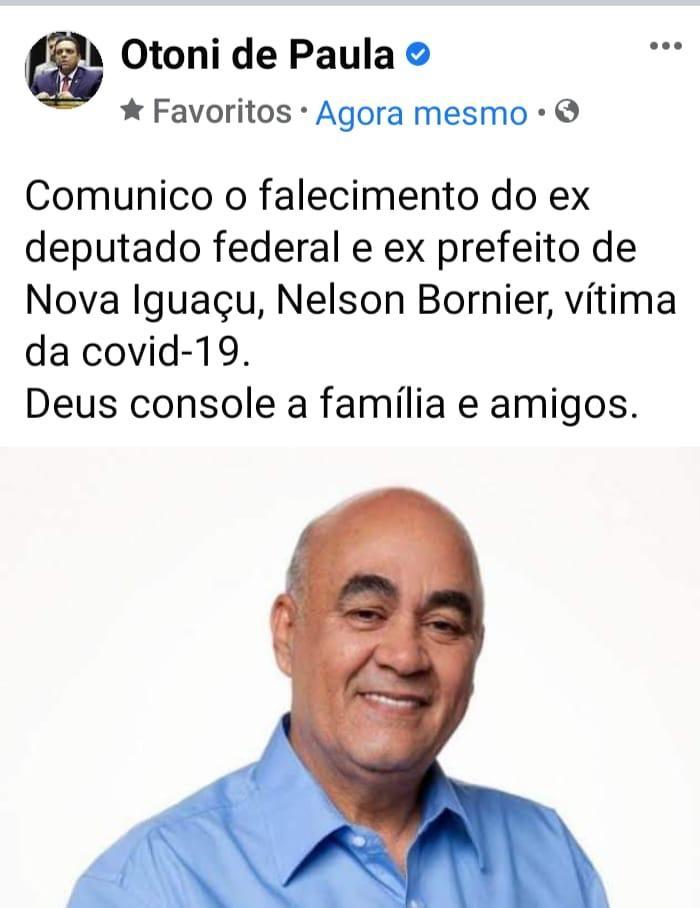 "Fake news de deputado bolsonarista ""mata"" o ex-prefeito Nelson Bornier"
