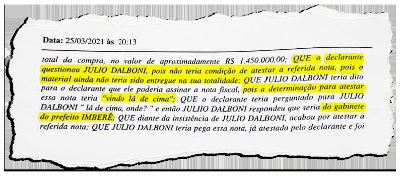Itatiaia: Ordem para servidor atestar nota de material não entregue teria partido do gabinete do prefeito, relatou o funcionário em depoimento à Polícia