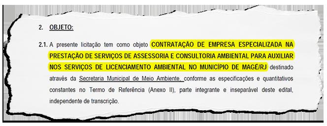 Magé ignora corpo técnico para terceirizar assessoria na concessão de licença ambiental: a Prefeitura vai contratar empresa por R$1  milhão