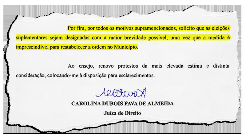 PTB representa junto ao TRE-RJ para que data do pleito suplementar de Itatiaia seja marcada logo, e oficio da juíza local acaba reforçando o pedido