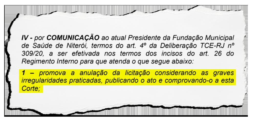 """TCE anula licitação vencida por empresa ligada ao grupo Locanty em Niterói, por """"graves irregularidades"""" no edital"""